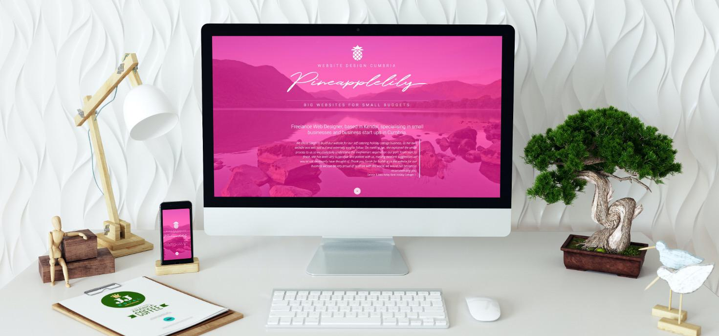 Website Designer in Cumbria. Pineapplelily for elegant and stylish websites